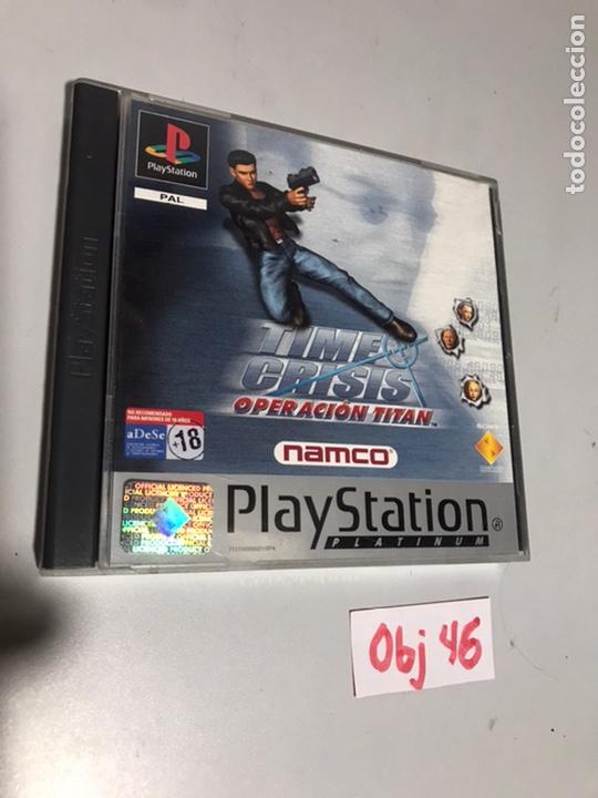 TIME CRISIS OPERACIÓN TITÁN (Juguetes - Videojuegos y Consolas - Sony - PS1)