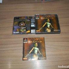 Videojuegos y Consolas: TOMB RAIDER CAJA Y MANUAL DEL JUEGO PLAYSTION PAL ESPAÑA. Lote 197779126