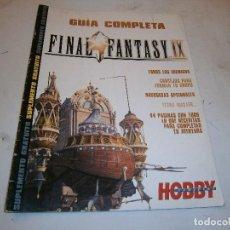 Videojuegos y Consolas: GUIA COMPLETA FINAL FANTASY IX (HOBBY CONSOLAS) PLAYSTATION PSX. Lote 199763963