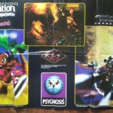 Videojuegos y Consolas: FORMULA 1 98 Y PSYBADEK, O.D.T. COLONY WARS - SUPER POSTER PLAYSTATION 86X54CM.. Lote 199795291