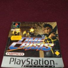 Videojuegos y Consolas: MANUAL TIME CRISIS, PLAYSTATION. Lote 199805211