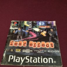 Videojuegos y Consolas: MANUAL FEAR EFFECT, PLAYSTATION. Lote 199805557
