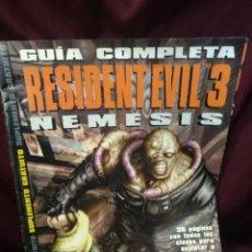 Videojuegos y Consolas: GUÍA COMPLETA RESIDENT EVIL 3 NÉMESIS, HOBBY CONSOLAS. Lote 200525558