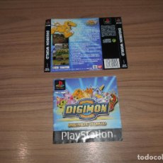 Videojuegos y Consolas: DIGIMON WORLD MANUAL INSTRUCCIONES Y CONTRAPORTADA ORIGINAL PLAYSTATION PAL ESPAÑA. Lote 203167853