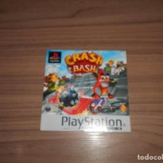 Videojuegos y Consolas: CRASH BASH PORTADA ORIGINAL PLAYSTATION PAL ESPAÑA CASTELLANO. Lote 203168537