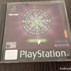 Videojogos e Consolas: WHO WANTS TO BE A MILLIONAIRE? 2ND EDITION - PS1 - PSX - UK - (INGLÉS). Lote 204489226