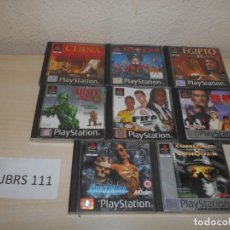 Videojuegos y Consolas: PS1 - PACK DE 8 JUEGOS VARIADOS , PAL ESPAÑOLES. Lote 205700195