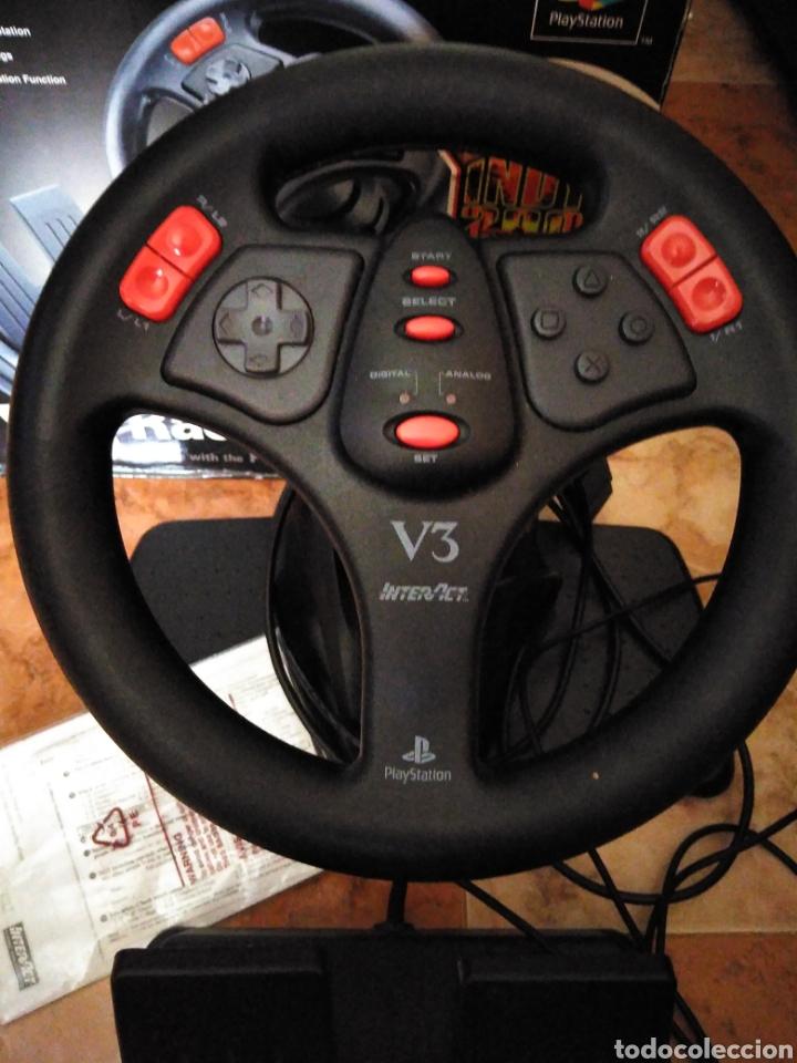 Videojuegos y Consolas: Racing wheel v3 PlayStation volante psone - Foto 2 - 206427988