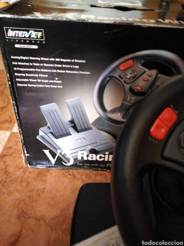 Videojuegos y Consolas: Racing wheel v3 PlayStation volante psone - Foto 4 - 206427988