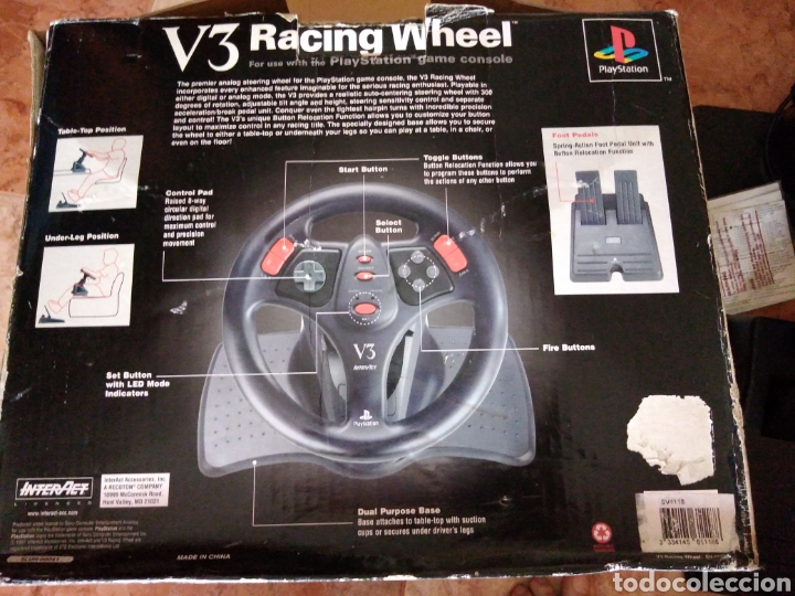 Videojuegos y Consolas: Racing wheel v3 PlayStation volante psone - Foto 5 - 206427988