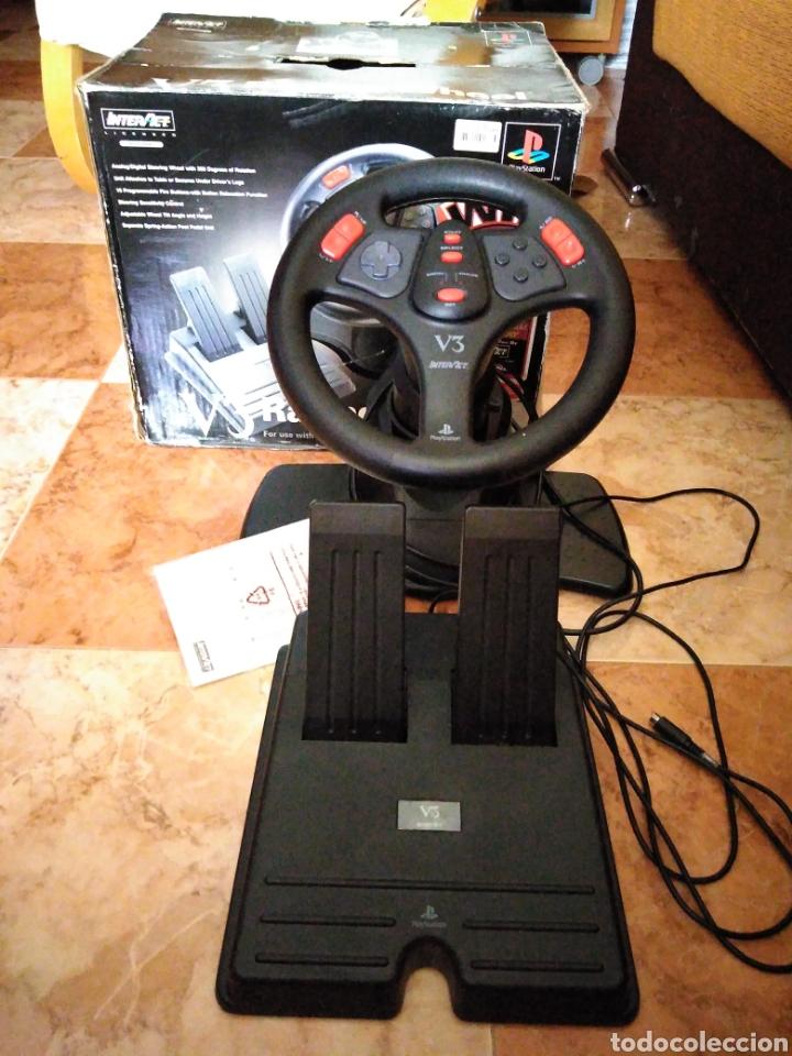 RACING WHEEL V3 PLAYSTATION VOLANTE PSONE (Juguetes - Videojuegos y Consolas - Sony - PS1)