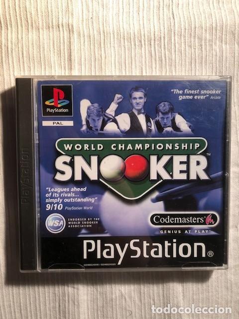 WORLD CHAMPIONSHIP SNOOKER PS1 PS2 PS3 PSX SONY PLAYSTATION 1 COMPLETO PAL ESPANA (Juguetes - Videojuegos y Consolas - Sony - PS1)
