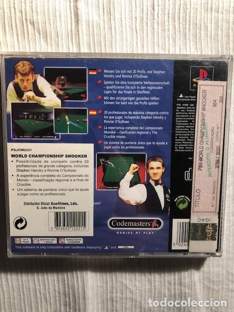 Videojuegos y Consolas: World Championship Snooker PS1 PS2 PS3 PSX Sony Playstation 1 Completo PAL Espana - Foto 2 - 207035342