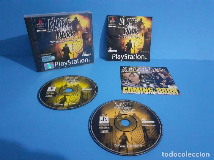 ALONE IN THE DARK PS1 VERSIÓN FRANCESA COMPLETO, 2 DISCOS E INSTRUCCIONES. (Juguetes - Videojuegos y Consolas - Sony - PS1)