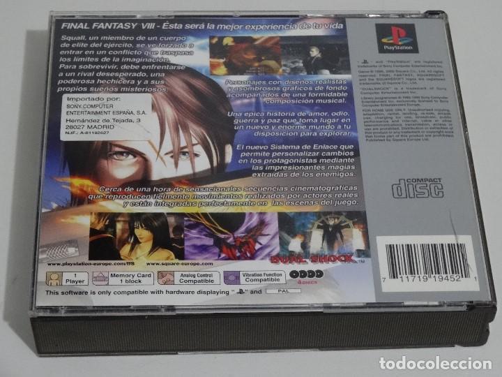 Videojuegos y Consolas: PLAY STATION PS1 - Final Fantasy VIII 8 MUY BUEN ESTADO Ed. Español - Foto 14 - 210152970