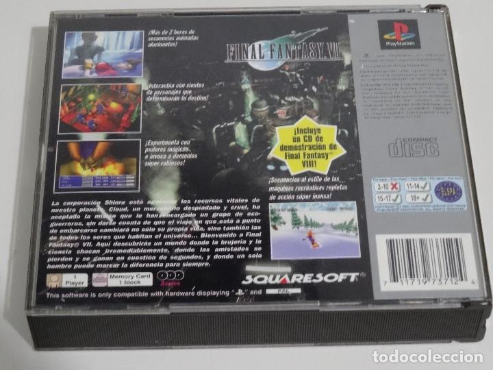 Videojuegos y Consolas: PLAY STATION PS1 - Final Fantasy VII 7 Ed. Español - Foto 9 - 210153141