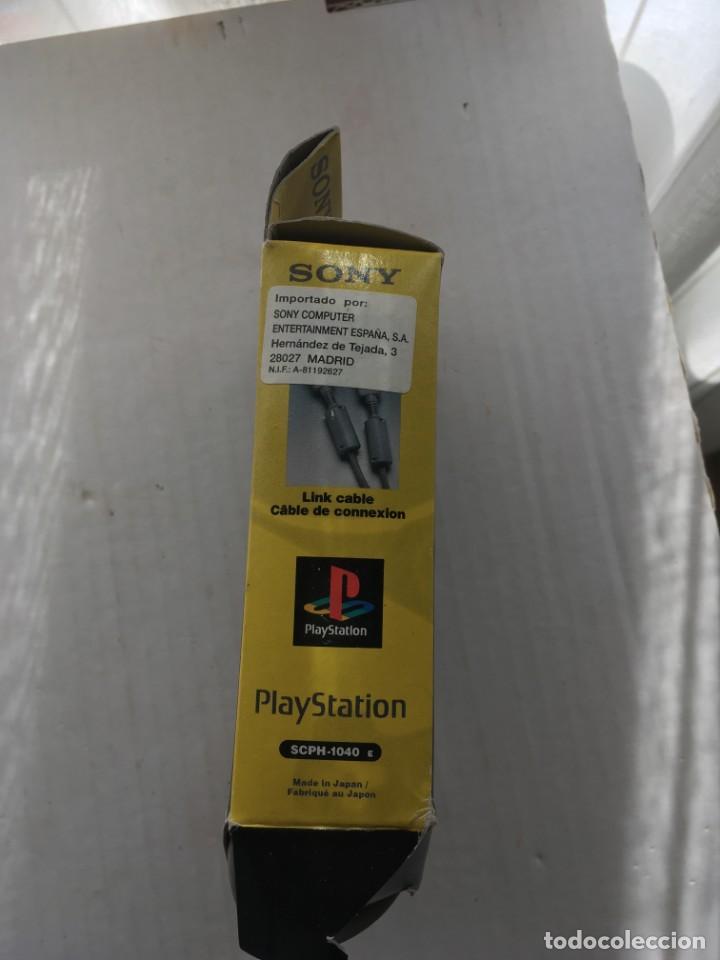 Videojuegos y Consolas: CABLE DE CONEXION LINK SONY PLAYSTATION OFICIAL PLAY STATION scph 1040 kreaten psx ps1 - Foto 5 - 211893348