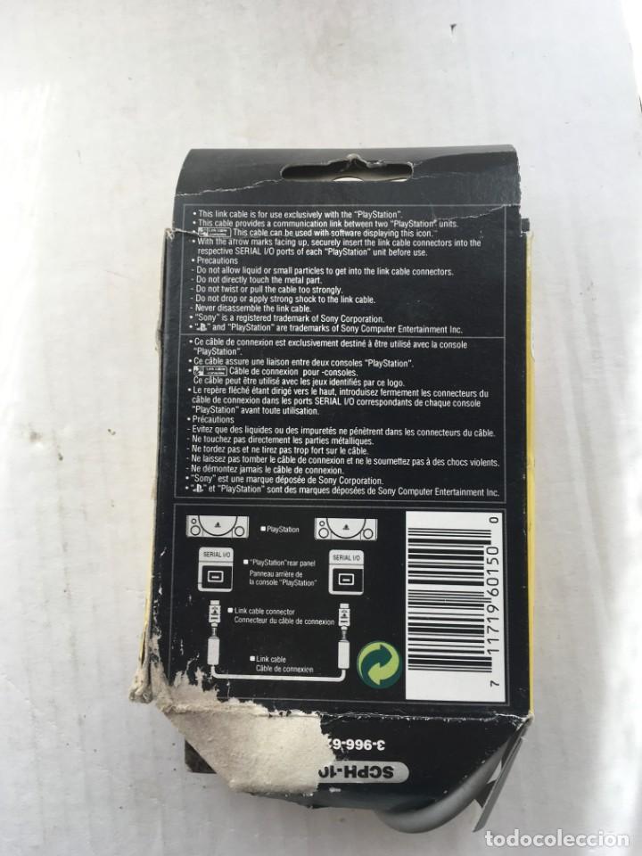 Videojuegos y Consolas: CABLE DE CONEXION LINK SONY PLAYSTATION OFICIAL PLAY STATION scph 1040 kreaten psx ps1 - Foto 2 - 211893348