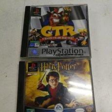 Videojuegos y Consolas: LOTE 2 JUEGOS PARA PS1 CTR CRASH TEAM RACING Y HARRY POTTER Y LA CAMARA SECRETA. Lote 213120755