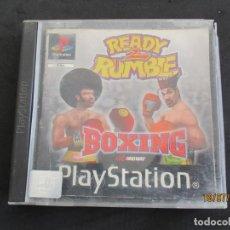 Videojuegos y Consolas: PLAY STATION READY RUMBLE 2 BOXING CAJA CON LIBRO DE INSTRUCCIONES NO DISCO (CT2). Lote 213313537
