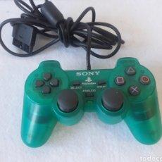 Videojuegos y Consolas: MANDO PLAYSTATION PSX VERDE TRANSPARENTE. Lote 219905207