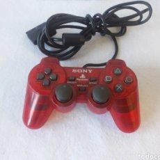 Videojuegos y Consolas: MANDO PLAYSTATION PSX ROJO TRANSPARENTE. Lote 219905287
