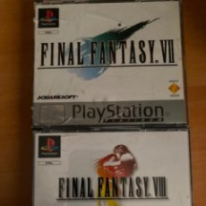Jeux Vidéo et Consoles: JUEGOS PS1 FINAL FANTASY VII VIII COMPLETOS. Lote 220636588