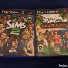 Videojuegos y Consolas: LOTE LOS SIMS 2 NAUFRAGOS Y SIM II THE PS2 PLAYSTATION 2 PLAY STATION TWO KREATEN. Lote 223897206