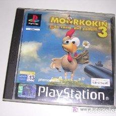 Videojuegos y Consolas: PSX PLAYSTATION JUEGO MOORKOKIN LA CAZA DEL POLLO !!!! COMPLETO RARO. Lote 225169990
