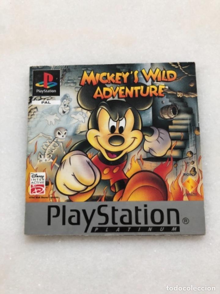 MANUAL MICKEY'S WILD ADVENTURE (Juguetes - Videojuegos y Consolas - Sony - PS1)