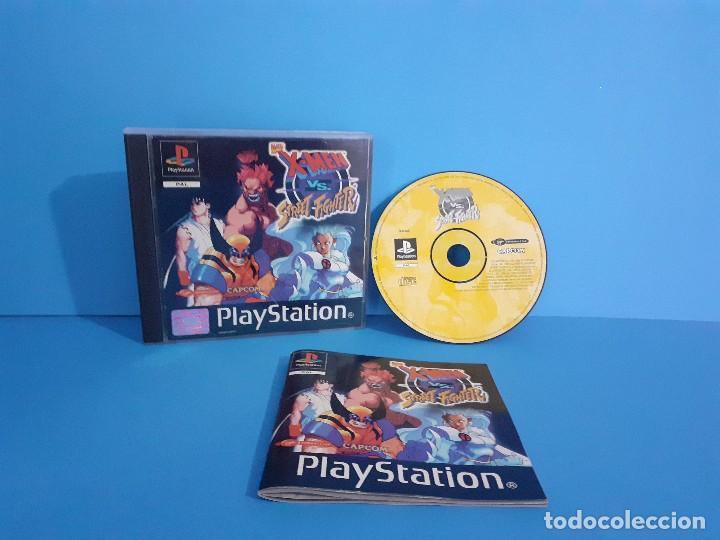 JUEGO PS 1 X-MEN VS STREET-FIGHTER. COMPLETO. (Juguetes - Videojuegos y Consolas - Sony - PS1)