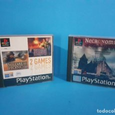 Videojuegos y Consolas: LOTE DE 2 JUEGOS PS 1 MEDAL OF HONOR 1 Y 2 Y NECRONOMICON.. Lote 226499881