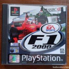Videojuegos y Consolas: JUEGO F1 2000 EA SPORTS PARA PLAY STATION 1 ORIGINAL EN SU CAJA COMPLETO. Lote 236087885