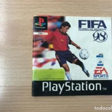 Videojuegos y Consolas: MANUAL PLAY STATION PSX FIFA 98. Lote 240582845