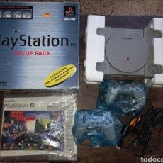 Jeux Vidéo et Consoles: VIDEOCONSOLA PS1 CON SU CAJA MANDOS CABLES E INSTRUCCIONES FUNCIONANDO *SONY PLAYSTATION*. Lote 240833945