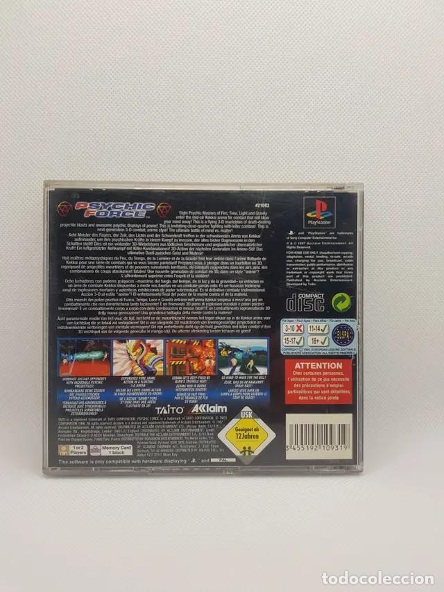 Videojuegos y Consolas: psychic force ps1 completo pal españa - Foto 4 - 241266455