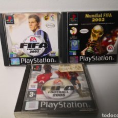 Videojuegos y Consolas: LOTE 4 JUEGOS MUNDIAL FIFA 2002, FIFA 2002, FIFA 2005. COMPLETOS. REGALO FIFA 2001. Lote 248499075