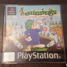 Videojuegos y Consolas: VIDEOJUEGO / JUEGO PS1 / PSX / PS ONE- LEMMINGS & OH NO! MORE LEMMINGS - PLAYSTATION -PAL-SLES 01461. Lote 250127360