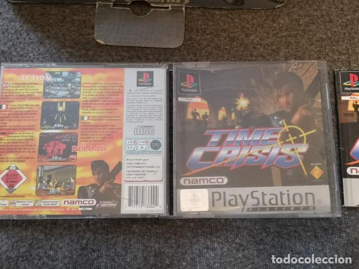 Videojuegos y Consolas: caja con pistola time crisis operación Titán + g-con 45 ps1 + juego time crisis 1 - Foto 2 - 253118530