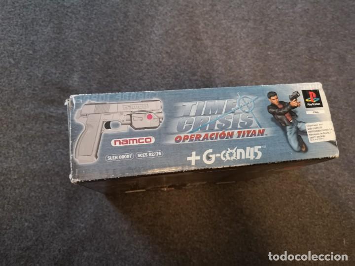 Videojuegos y Consolas: caja con pistola time crisis operación Titán + g-con 45 ps1 + juego time crisis 1 - Foto 5 - 253118530