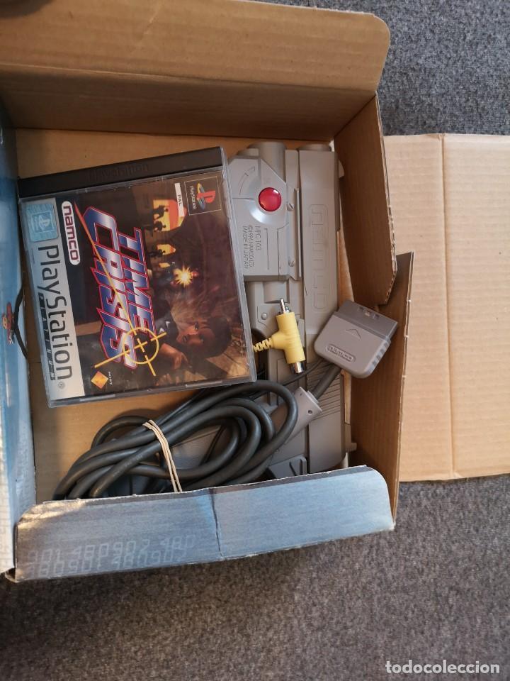 Videojuegos y Consolas: caja con pistola time crisis operación Titán + g-con 45 ps1 + juego time crisis 1 - Foto 7 - 253118530