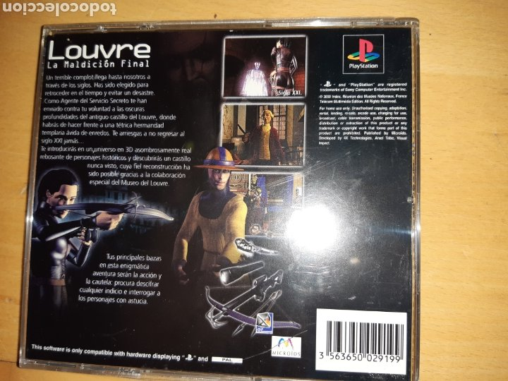 Videojuegos y Consolas: Louvre La Maldición Final Ps1/Psx PAL Castellano Completo. Ver descripción - Foto 5 - 253574165