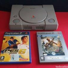 Videojuegos y Consolas: SONY PLAYSTATION CON 2 JUEGOS . NO ESTAN PROBADOS. Lote 253884830