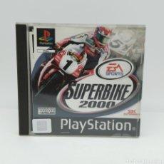 Videojuegos y Consolas: SUPERBIKE 2000 PARA PLAYSTATION, INCLUYE MANUAL DE JUEGO Y CATÁLOGO EA SPORTS. Lote 262003495