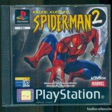 Videojuegos y Consolas: NUMULITE ** B5 SPIDERMAN 2 PLAYSTATION PAL ENTER ELECTRO SPIDER-MAN ACTIVISION MARVEL INCLUYE MANUAL. Lote 262827770