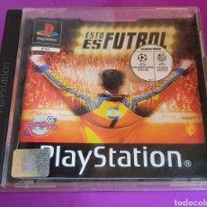 Videojuegos y Consolas: CAJA VACÍA PLAYSTATION 1 ESTO ES FUTBOL PS1. Lote 267769454