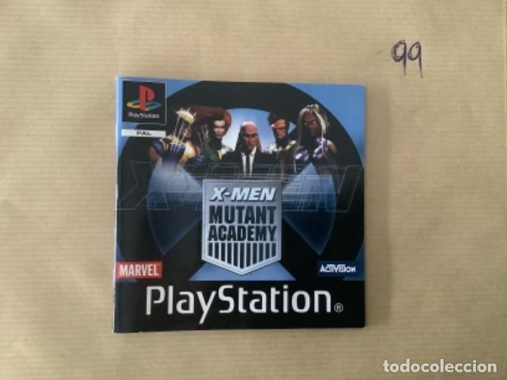 H1 MANUAL PSX PLAY XMEN MUTANT ACADEMY (Juguetes - Videojuegos y Consolas - Sony - PS1)