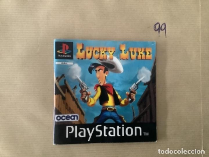 H1 MANUAL PSX PLAY LUCKY LUKE (Juguetes - Videojuegos y Consolas - Sony - PS1)