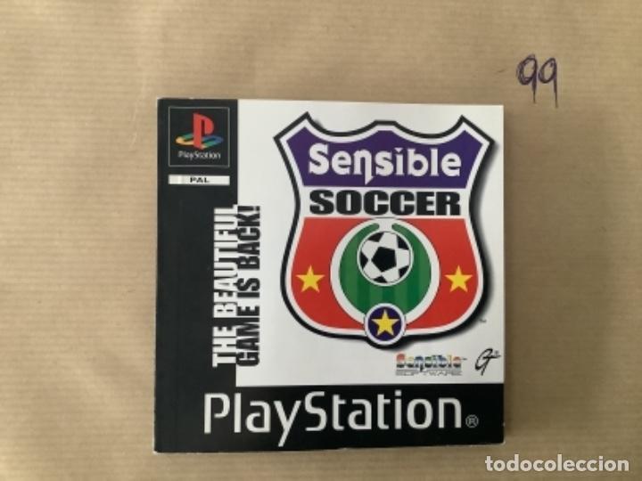 H1 MANUAL PSX PLAY STATION SENSIBLE SOCCER (Juguetes - Videojuegos y Consolas - Sony - PS1)
