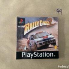 Videojuegos y Consolas: H1 MANUAL PSX PLAY RALLY CROSS 2. Lote 269642793